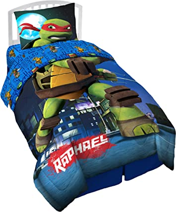 Turtles-Teenage Mutant Ninja,Reversible Twin//Full Comforter,With Sham,Free Ship