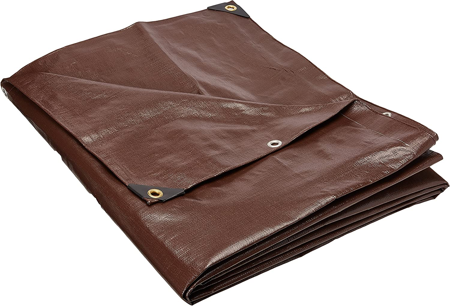 4 ft. x 20 ft. Super Heavy Duty 8 OZ. Brown Tarp - 16 Mil Thick