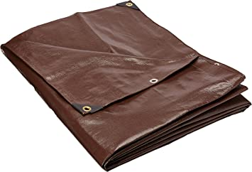 18 Ft Super Heavy Duty 8 Oz 16 Mil Thick X 24 Ft Brown Tarp