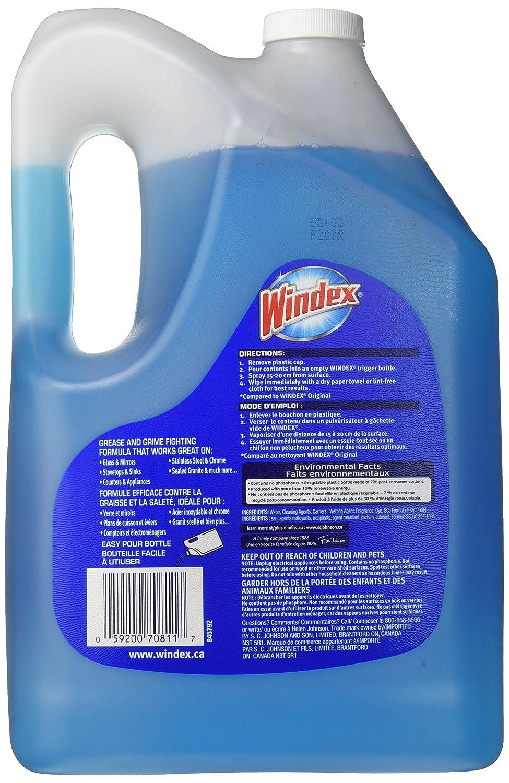 Windex Advanced Glass Multi Surface Cleaner 172 Oz 134 Gallon