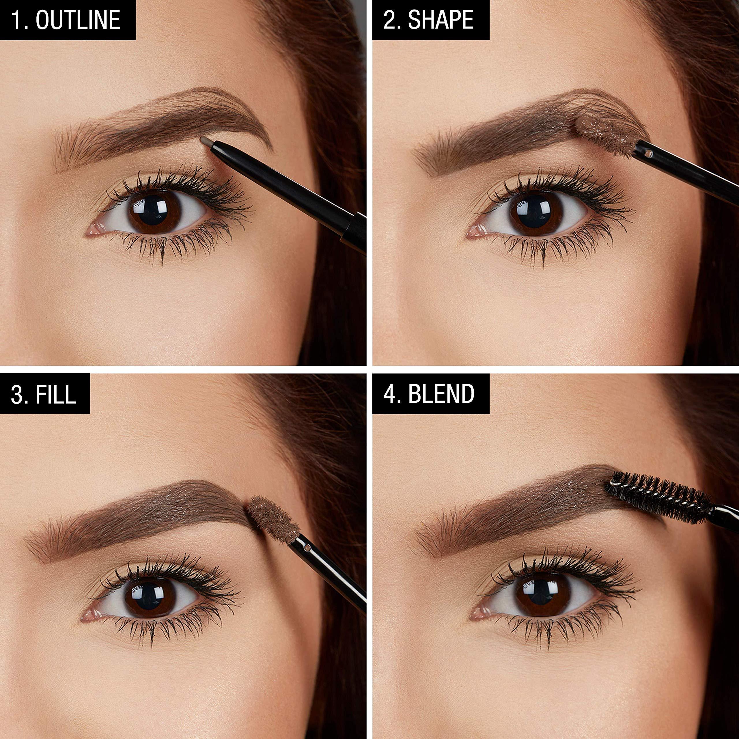 51aaee42e951 Maybelline New York TattooStudio Waterproof Eyebrow Gel Makeup, Medium Brown,  0.23 fl. oz. - K2709200 < Eyebrow Color < Beauty & Personal Care - tibs