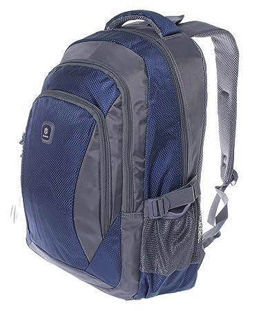 37b75e2d3b603 City Rucksack Schule Arbeit   Freizeit Bag Schulrucksack Sportrucksack  Backpack Laptoprucksack Laptopfach 15 quot  - schwarz