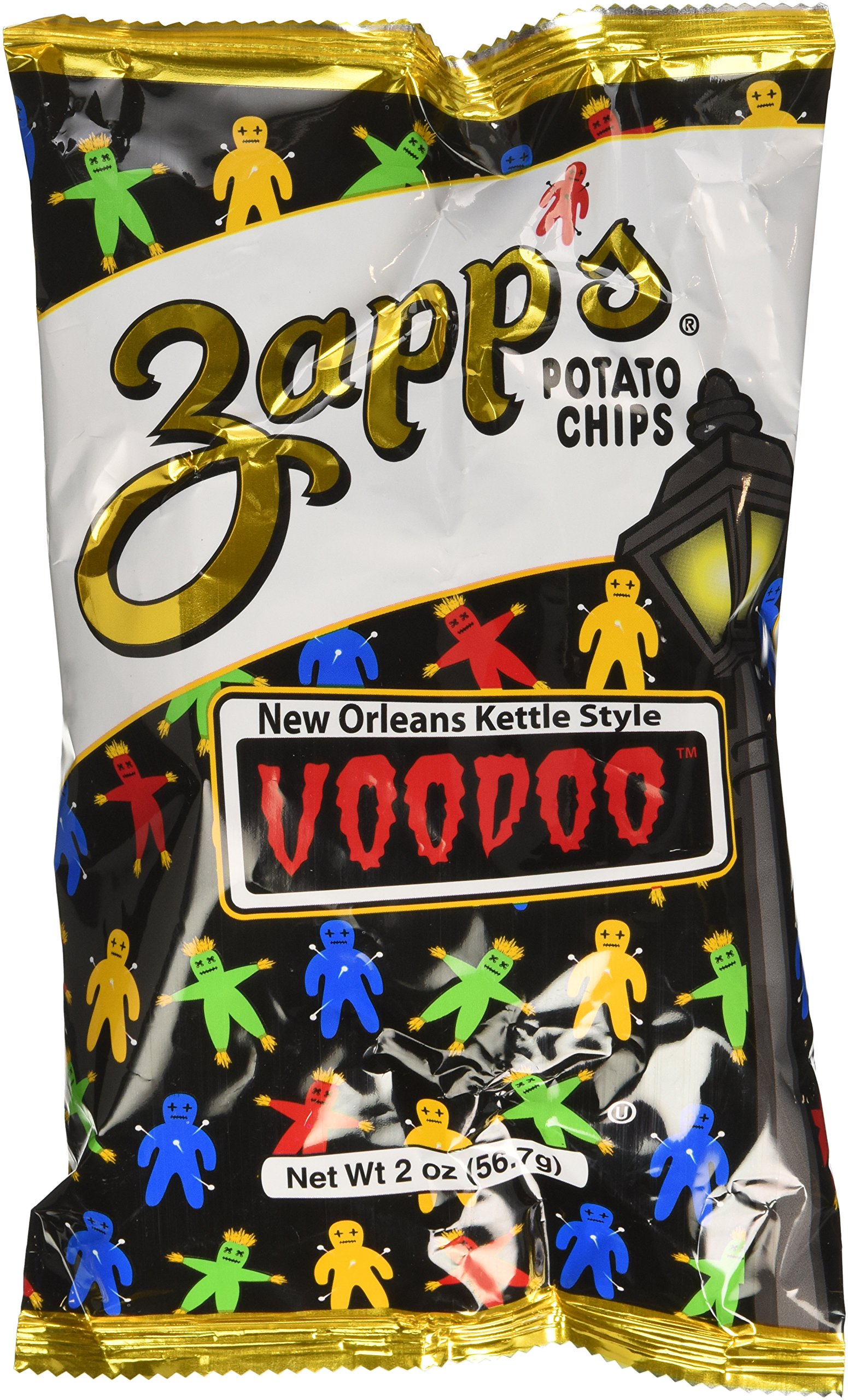 Zapps Potato Chips - Voodoo - 2 oz (Pack of 6) by Zapp's