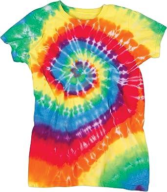 Brillante Fluorescente Swirly espiral Juniors Tie Dye ...