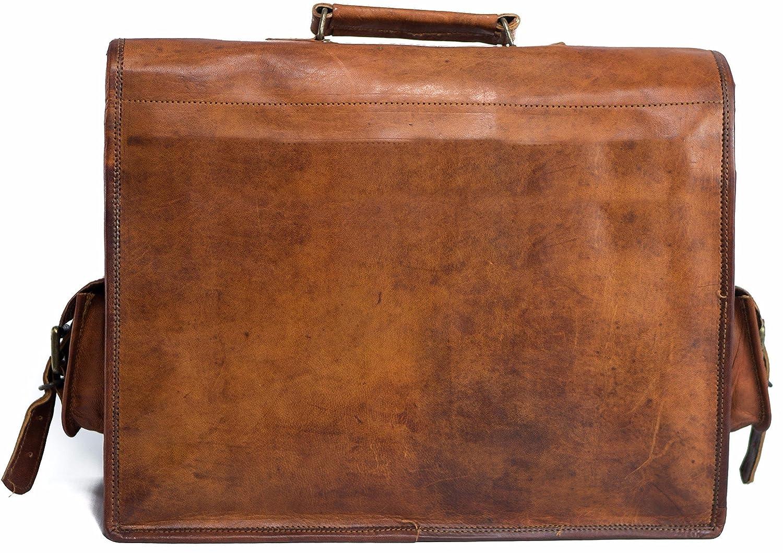 Leather Laptop Messenger Bag for men Mens Office Briefcase Macbook Satchel Professional Side bags for men