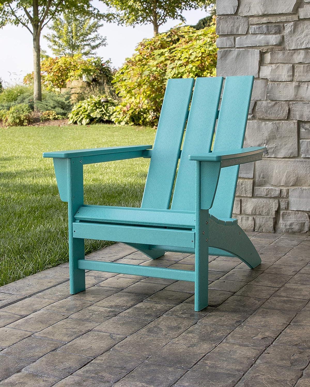 POLYWOOD AD420GY Modern Adirondack Chair Slate Grey Renewed