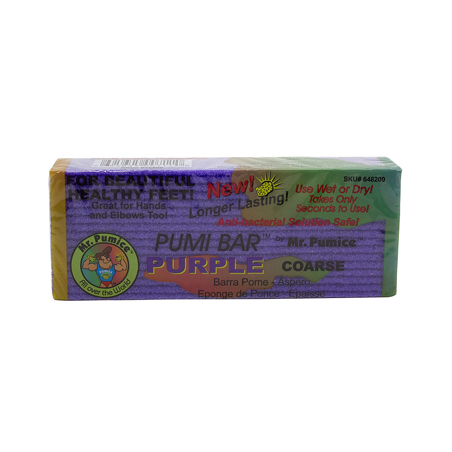 Mr. Pumice Purple Pumi Bar (Single): Extra-Coarse Callus Remover, Pedicure Stone & Ped File Scrubber For Smooth Feet and Heels: Beauty