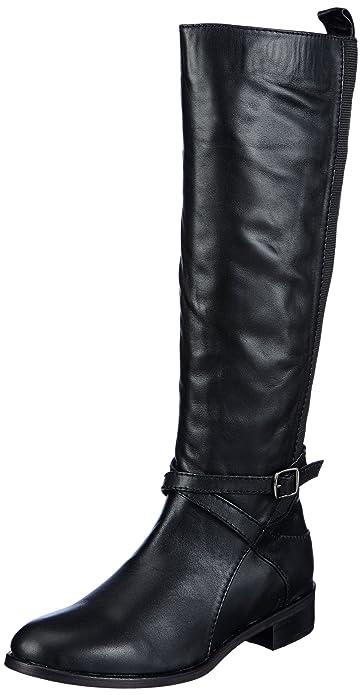 Andrea Conti 0614265 - Botas planas, talla: 42, color: negro - Schwarz