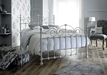 Lawrence Furniture Ltd Victorian Style Double 4ft 6inch Cream Metal