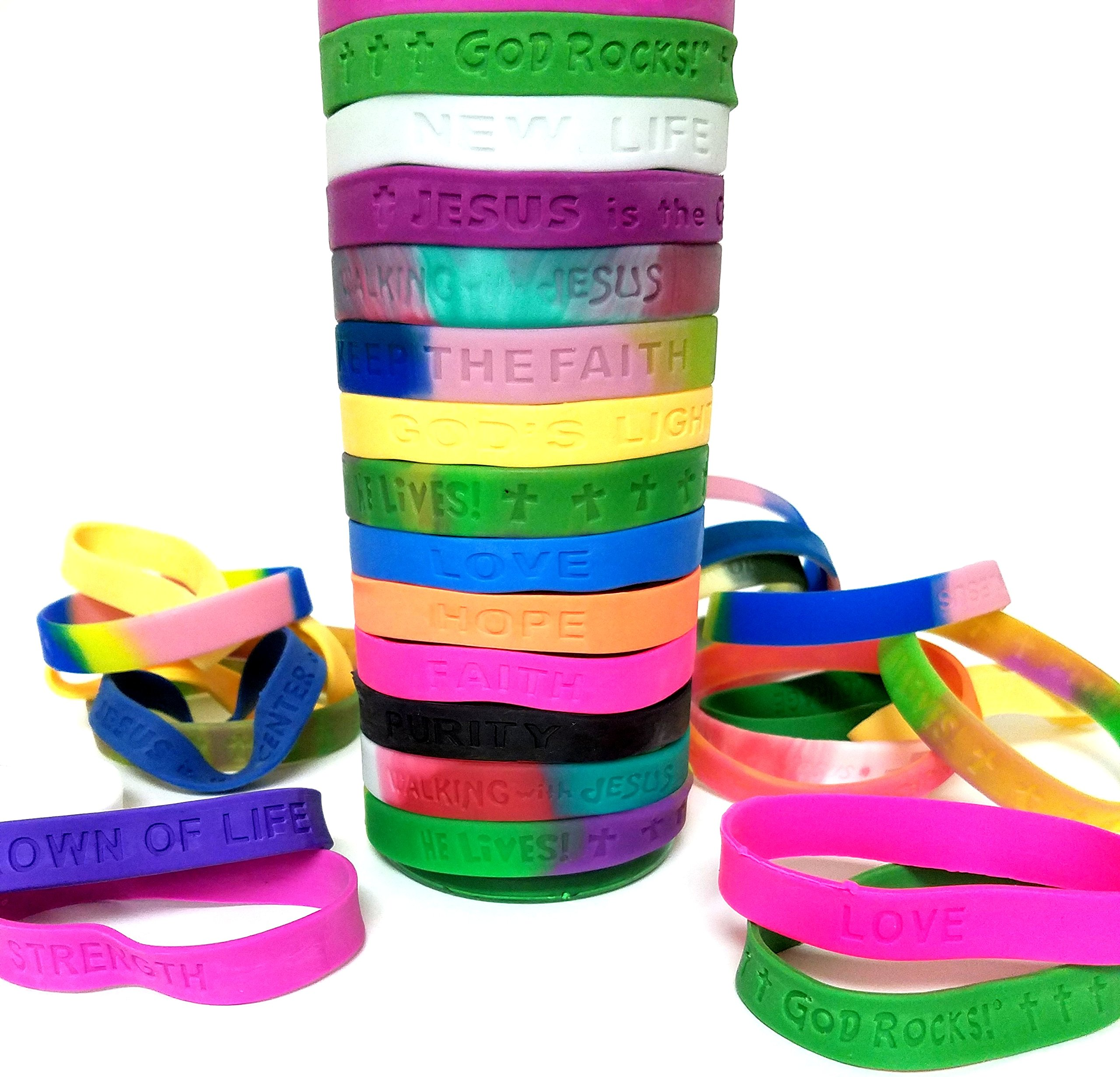 Playscene Religious Expressions Rubber Bracelets (Medium) by Playscene
