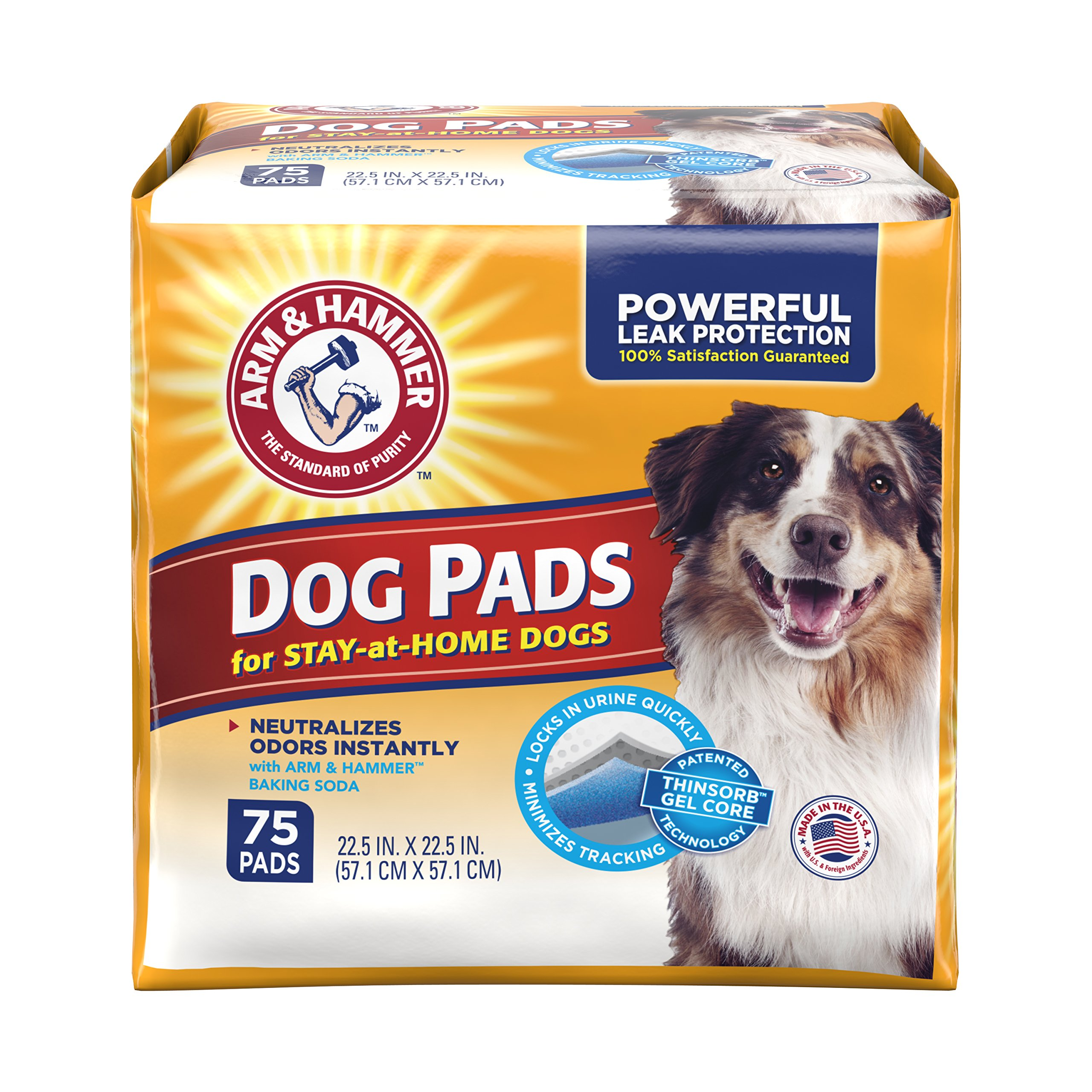 Arm & Hammer Ultra Absorbent Adult Dog Pads, 75 count