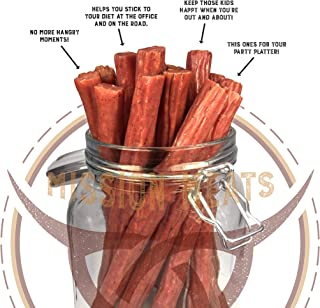 product image for Mission Meats Keto Free Range Turkey Jerky Sticks Gluten Free, Sugar Free, Nitrate Free, No MSG Paleo Snacks Healthy Natural Meat Sticks, Original Turkey 144 pack