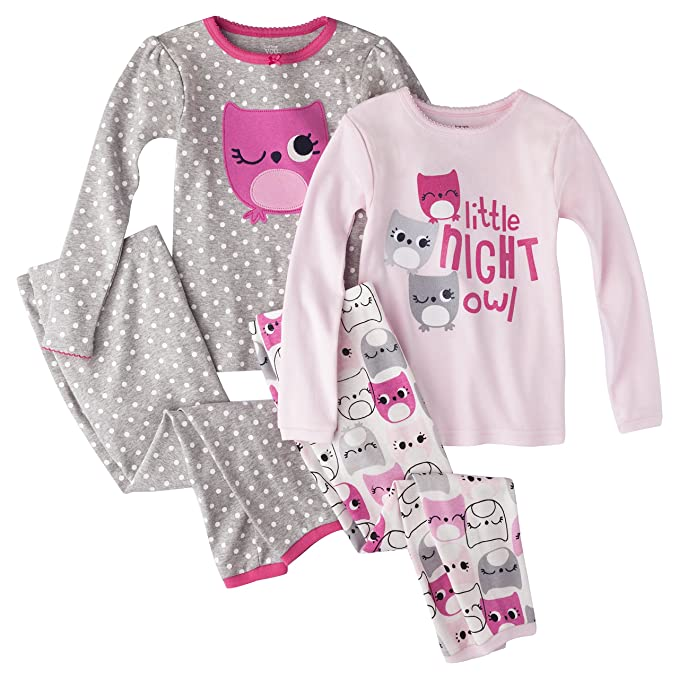 1ba9ae21b Amazon.com: Just One you By Carters Girls' 4-Piece Pajama Set - Owls ...