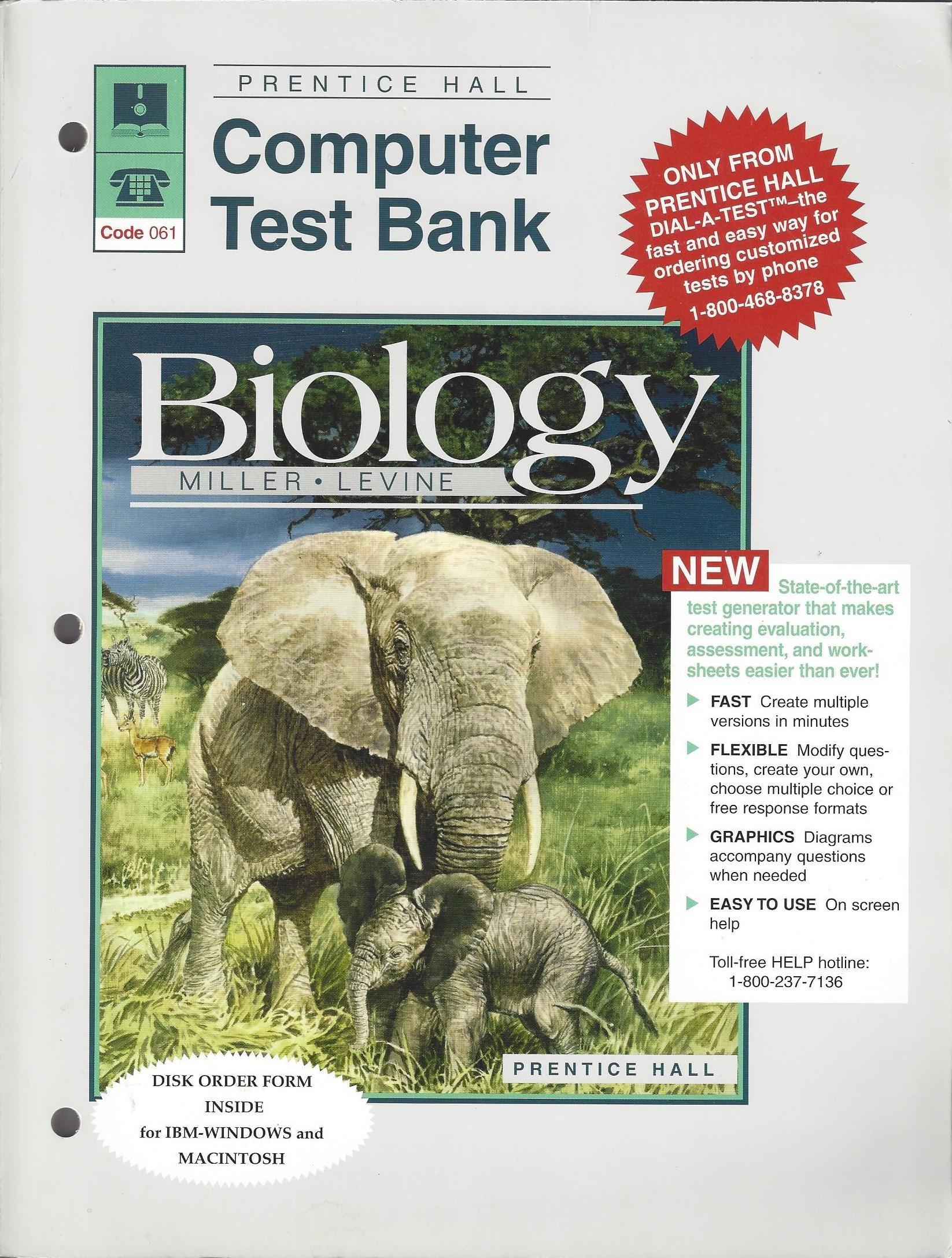 Biology: Computer Test Bank: Miller, Levine: 9780138170400