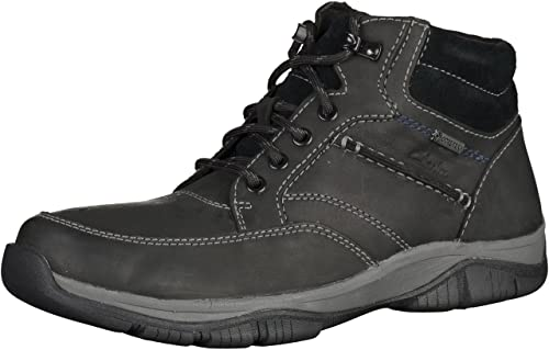 Clarks GORE-TEX RampartMid 261043287 Mens black Leather Boots, 8.5 UK