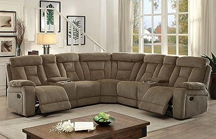 Pleasant Amazon Com Furniture Of America Fa Cm6773Mc Sectional Download Free Architecture Designs Intelgarnamadebymaigaardcom