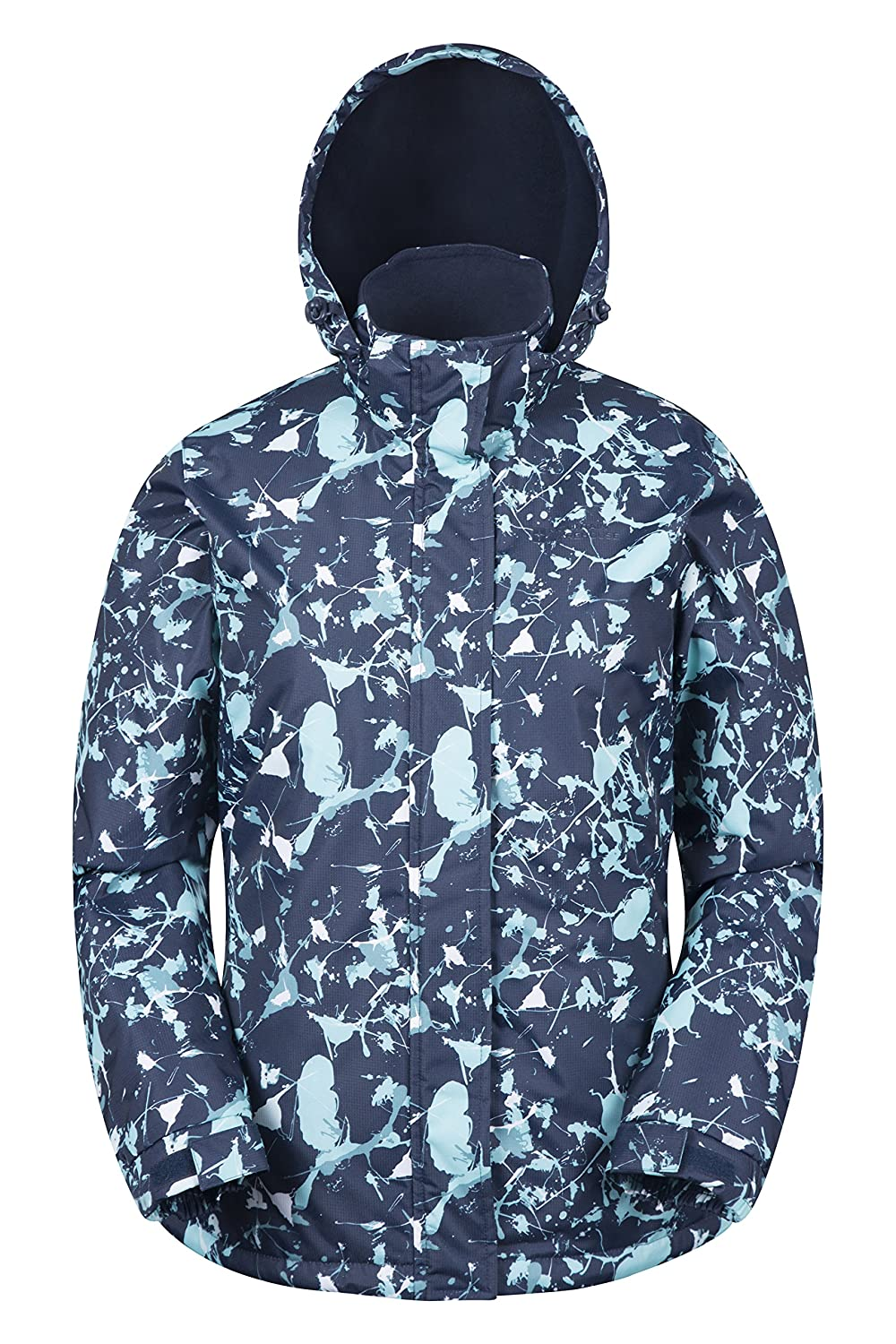 Mountain Warehouse Dawn Womens Ski Jacket - Snowproof, Warm Ladies Jacket, Fleece Lined Ski Coat, Adjustable Cuff, Hem & Hood - Ideal Ski Clothes In Cold Weather
