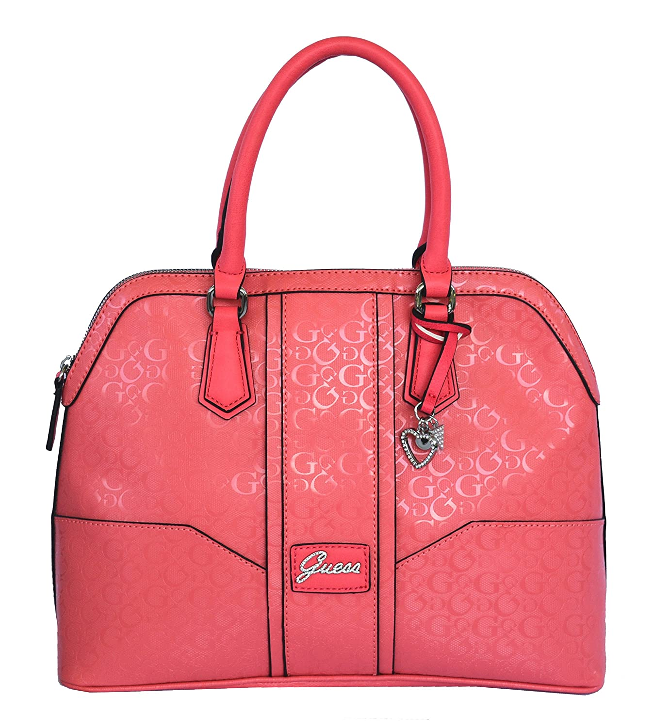 GUESS Signature Dancing Dome Satchel Crossbody Bag Handbag Purse Passion: Handbags: Amazon.com