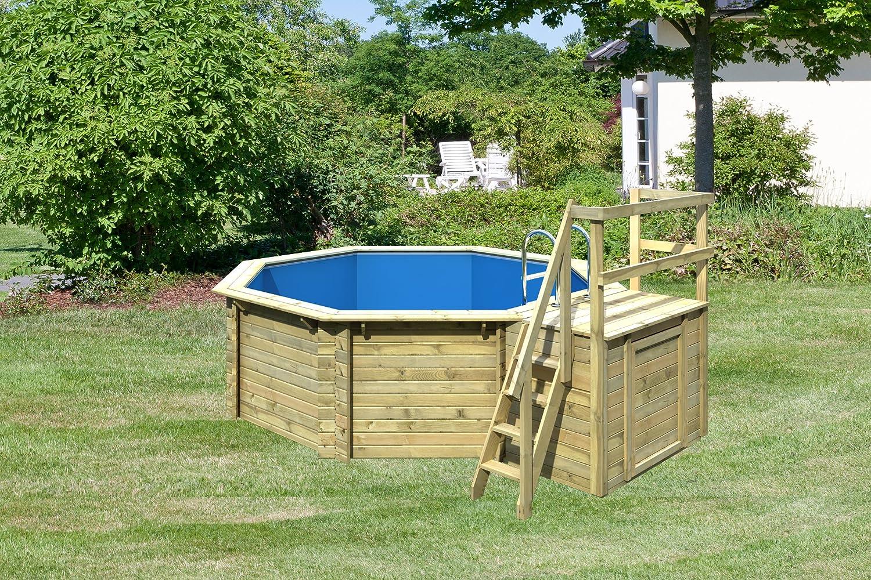 Juego Pool Madera 4, 00 x 1, 20 m madera Piscina con sol Deck ...