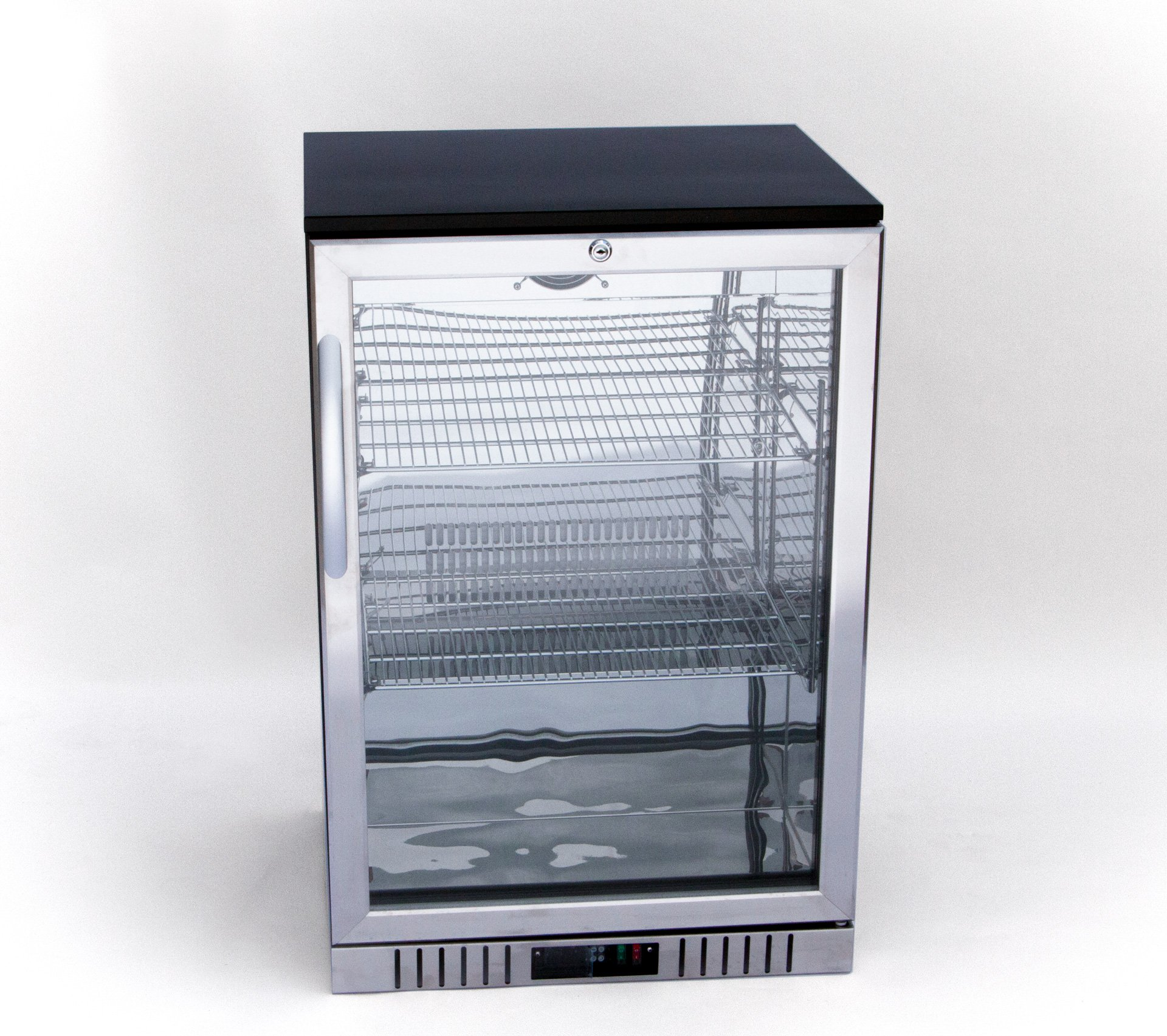 24'' Stainless Steel and Glass Door Back Bar Beverage Cooler, Counter Height