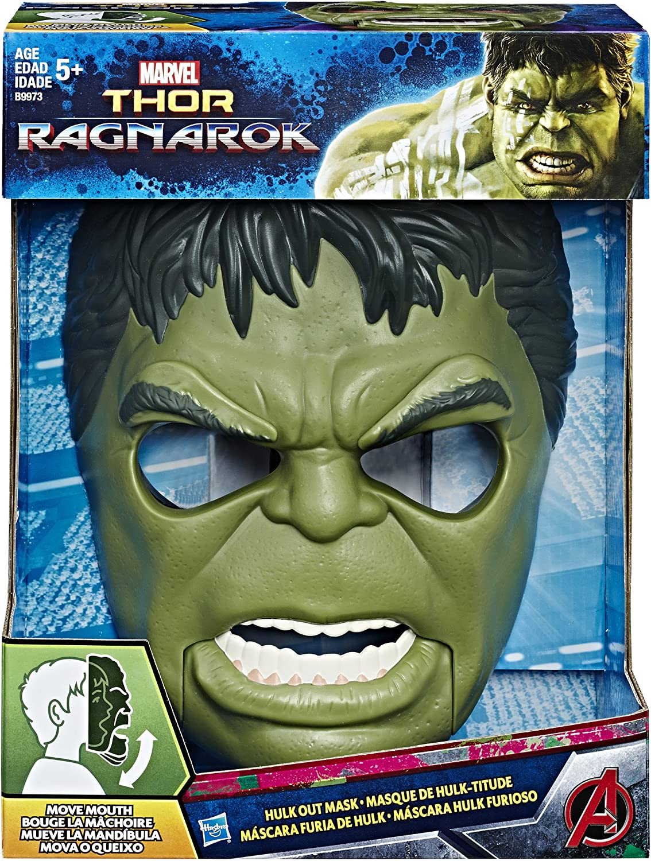 Marvel Avengers Mascara Hulk con Movimiento, Multicolor (Hasbro ...