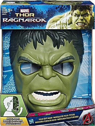 Amazon.com: MARVEL Thor Ragnarok Hulk Out Mask: Clothing