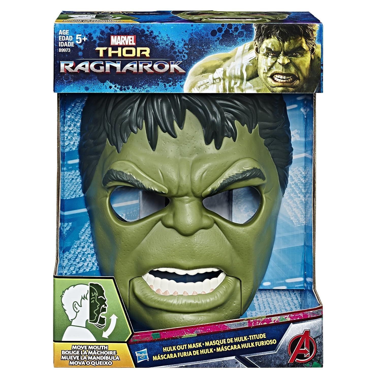 Marvel Avengers Mascara Hulk con Movimiento, Multicolor (Hasbro B9973EU4)