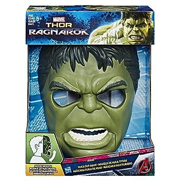 Marvel Avengers Mascara Hulk con Movimiento, (Hasbro B9973EU4)