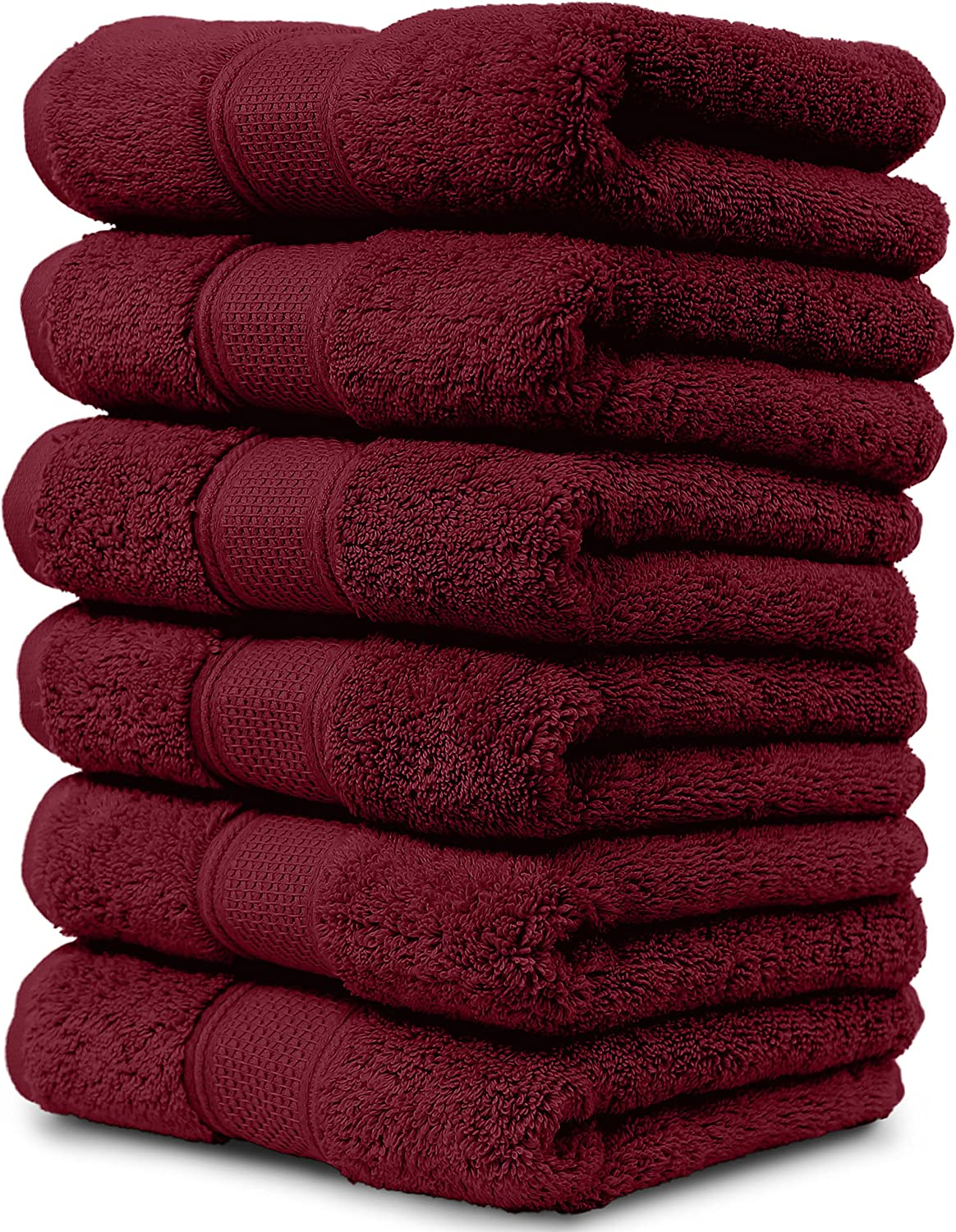 Maura 6 Piece Hand Towels Set Extra Large 16 X30 Premium Turkish Towels Thick Soft Plush And Highly Absorbent Luxury Hotel Spa Quality Towels Burgundy Home Kitchen Amazon Com