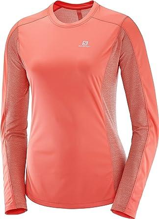 Salomon Mujer Camiseta deportiva de manga larga Agile LS, Mezcla de sintéticos: Amazon.es: Ropa y accesorios