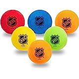Franklin Sports Mini Foam Hockey Balls - Knee Hockey Balls for Kids - 6 Soft Foam Mini Hockey Balls - Assorted Colors