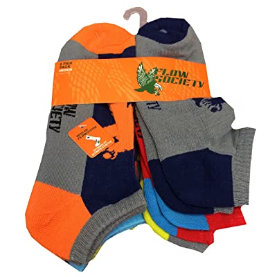 Ankle socks, Color Block pack of 6 pairs. Size Medium Fits Men Shoe 4-8.5