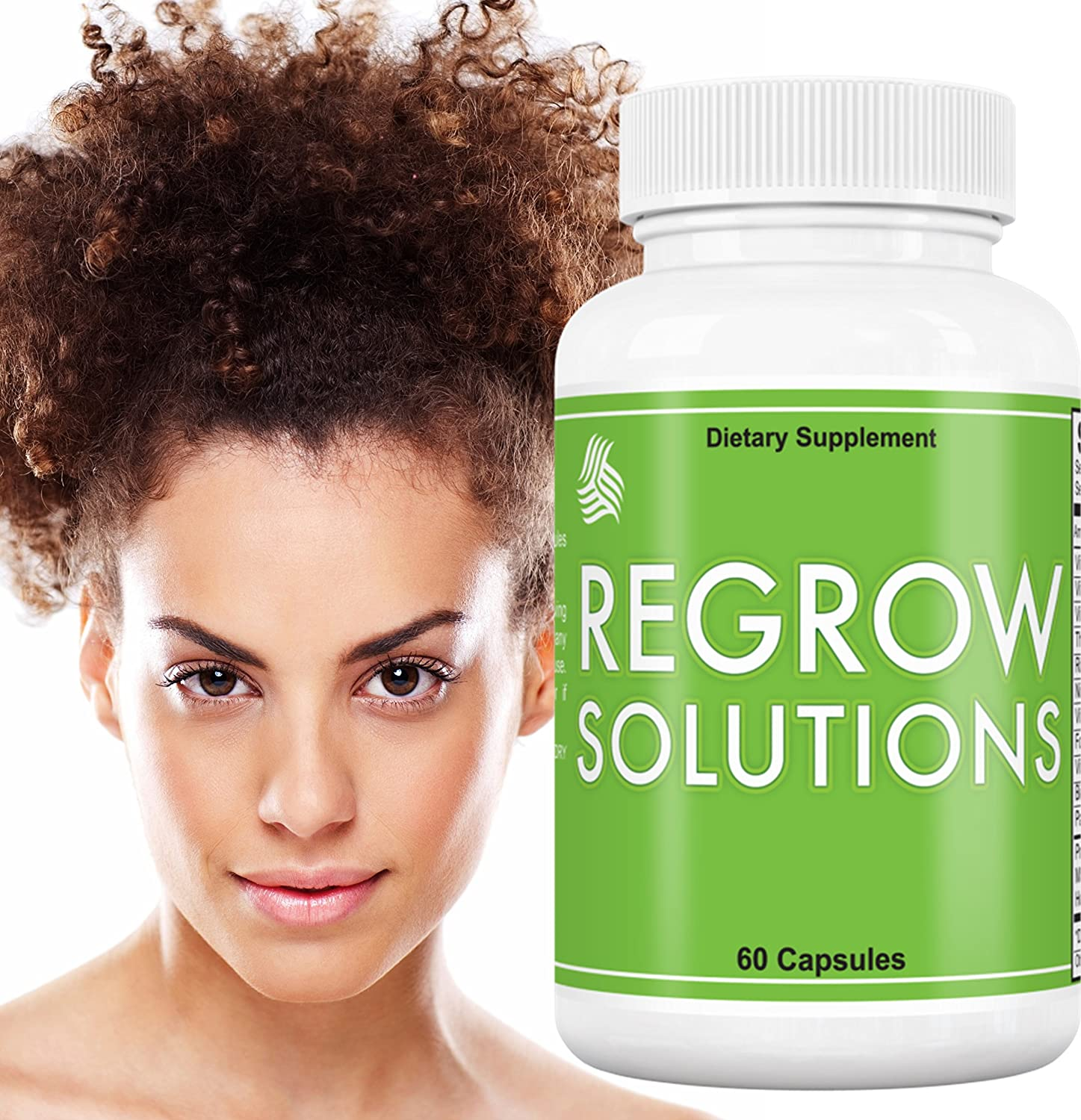 African American Hair Growth Vitamins: Regrow Solutions - Biotin for Hair Growth - Biotin 5000 mcg plus 11 Essential Vitamins for Hair Growth - 100% Money Back Guarantee