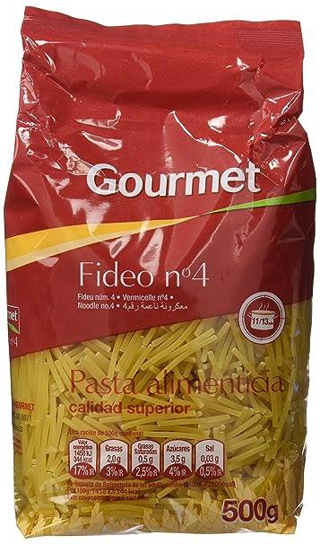 Gourmet - Fideo nº 4 - Pasta alimenticia - 500 g - [Pack de 9