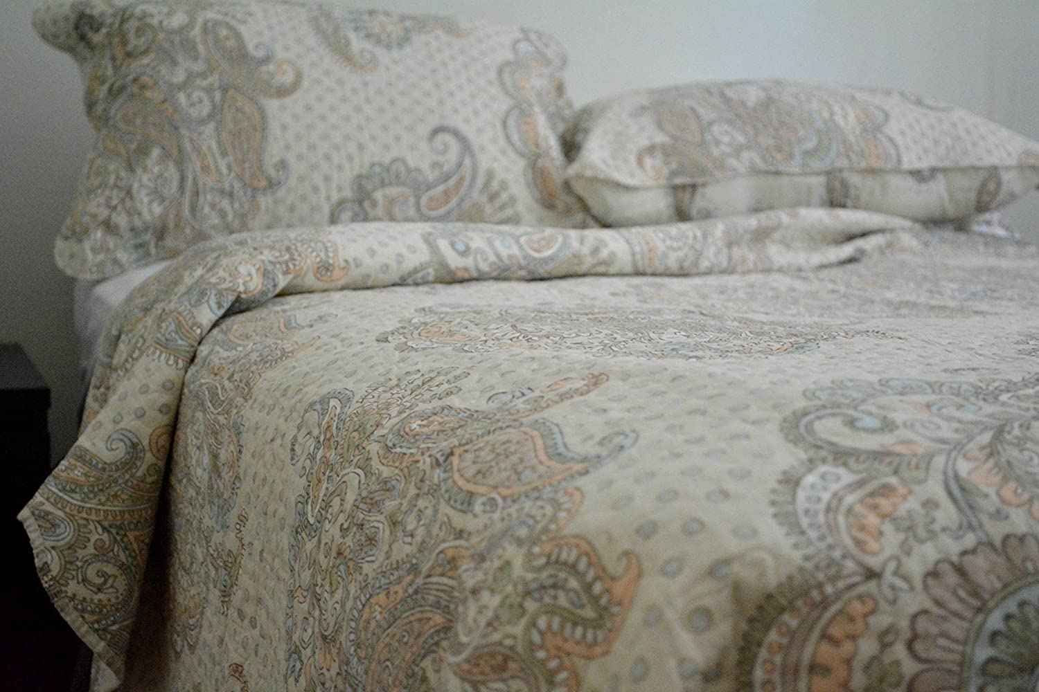Reversible Bedspread Quilt Set, Cal King