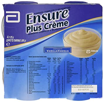Abbott Ensure Plus Creme Vanilla 4x125g