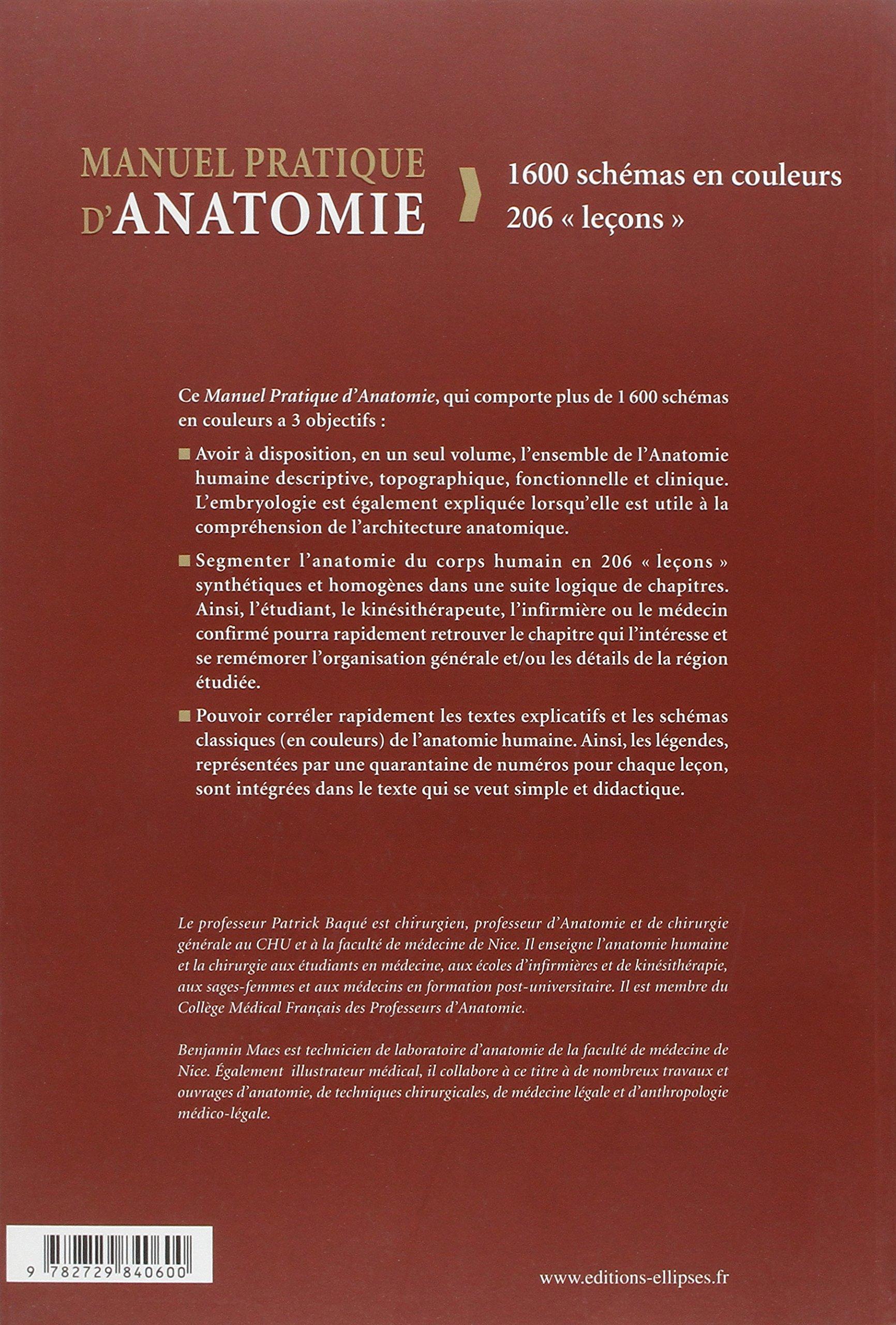 Manuel Pratique d\'Anatomie: Amazon.de: Patrick Baqué, Benjamin Maes ...