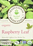 Traditional Medicinals Organic Raspberry Leaf Herbal Wrapped Tea Bags, 16 ct