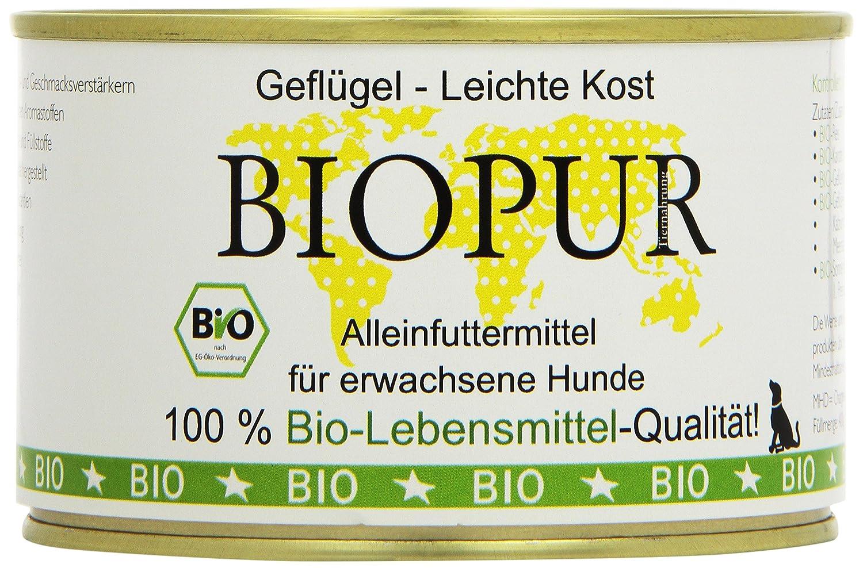 BIOPUR Organic Dog Food Light Food 400g Pack of 12 x 400 g