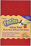 Darice FLT-0499 Felties Sticky Stiff Felt Sheets, 1mm, Primary Colors