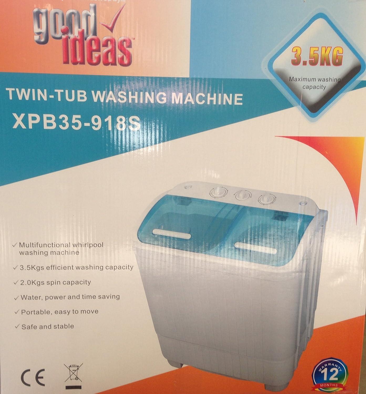 good Ideas Portable Mini Twin Tub 2 kg de lavadora de 3,5 Kg con ...