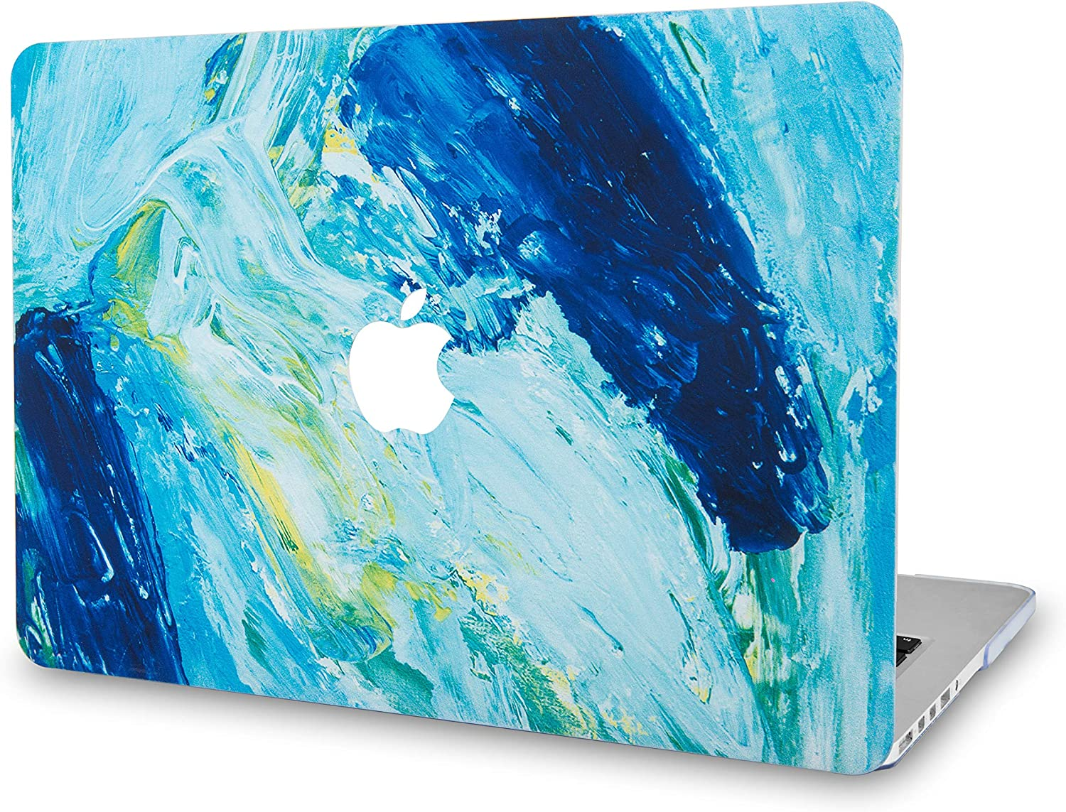 "LuvCase Laptop Case for Old MacBook Pro 13"" Retina Display (2015/2014/2013/2012 Release) A1502/A1425 Rubberized Plastic Hard Shell Cover (Ocean)"