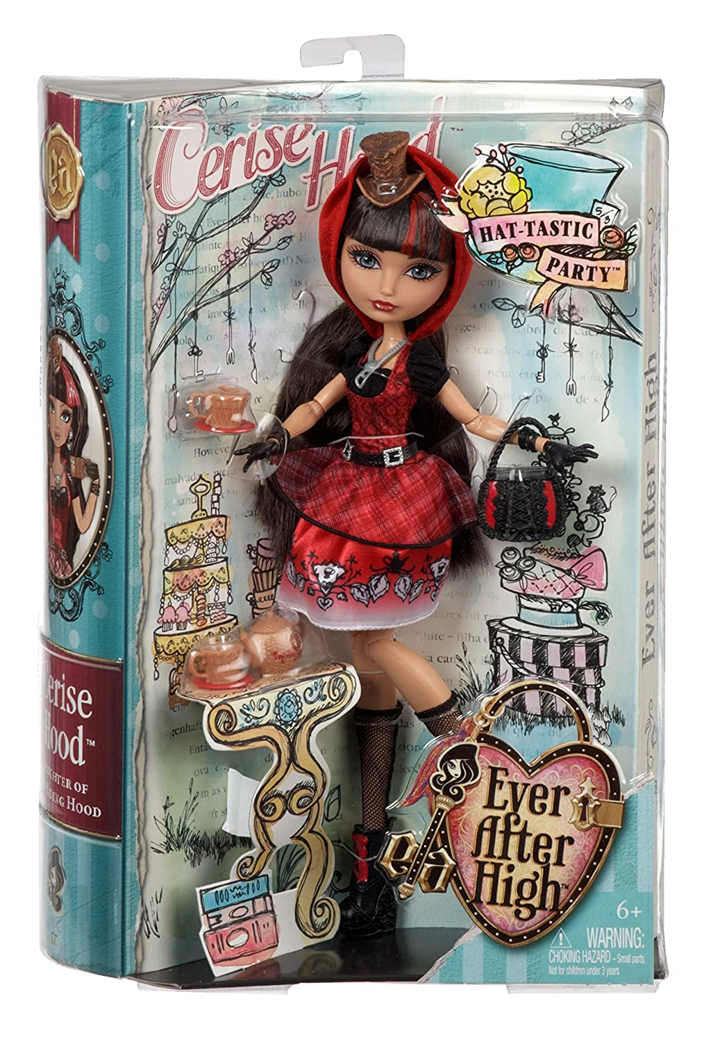 Ever After High Muñeca La fiesta sombretástica Cerise Wood (Mattel BJH33): Amazon.es: Juguetes y juegos
