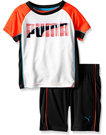 5530eaf1fd62 PUMA Boys  Short Sleeve Tee and Short Set