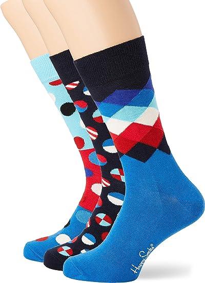Happy Socks Navy Gift Box Calze Multicolore Pacco da 4 Donna 4//7 Taglia Unica: 36-40 Multicolour 620