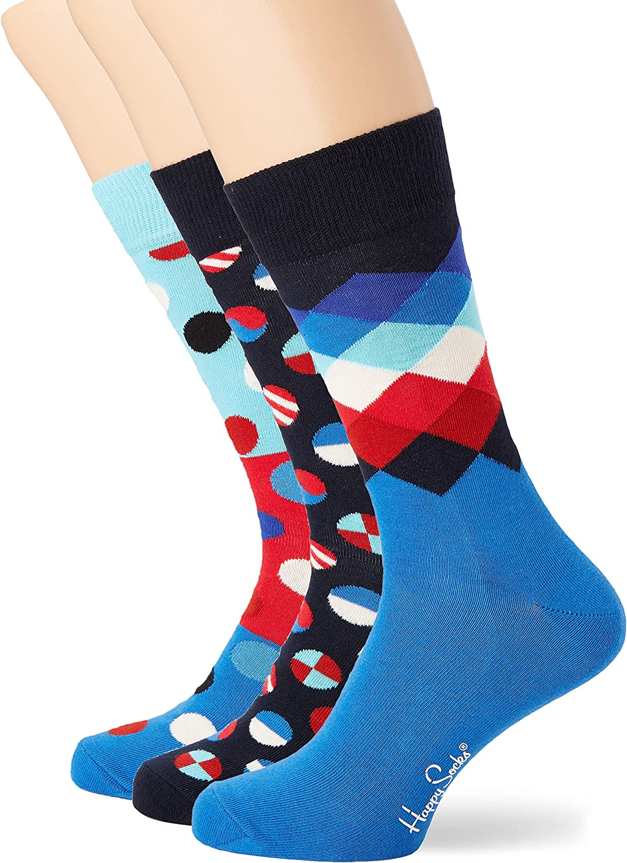Happy Socks Navy Gift Box, Calcetines para Hombre, Multicolor ...