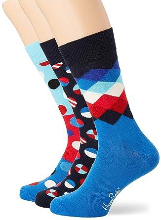 100% autentico davvero economico grande vendita Happy Socks Navy Gift Box, Calzini Uomo, Multicolore (Multicolour ...