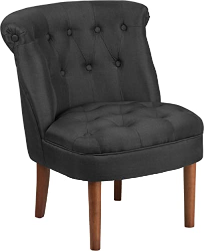 Flash Furniture HERCULES Kenley Series Black Fabric Tufted Chair
