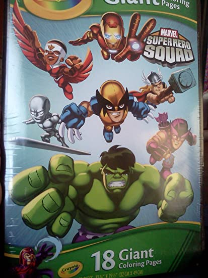 Amazon.com: Marvel Super Hero Squad 18 Giant Coloring Pages: Toys ...