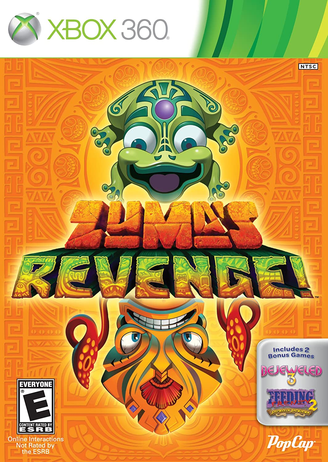 Color zuma game - Amazon Com Zuma S Revenge With Bejeweled 3 And Feeding Frenzy 2 Xbox 360 Video Games